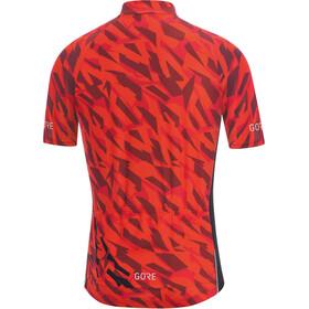 GORE WEAR C3 Camo maglietta a maniche corte Uomo arancione/nero